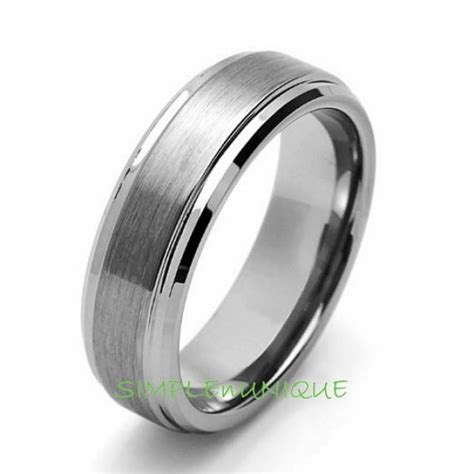 7mm mens promise ring tungsten s wedding band tungsten