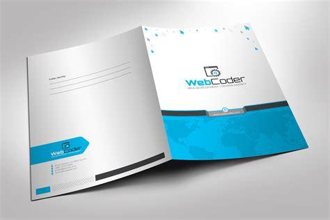 corporate folder template presentation folder file holder corporate identity