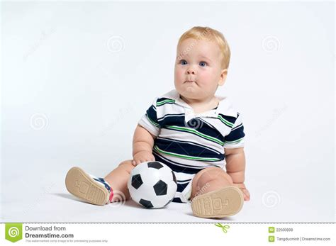 Softball Dfd Baby baby with soccer royalty free stock photos image 22500898