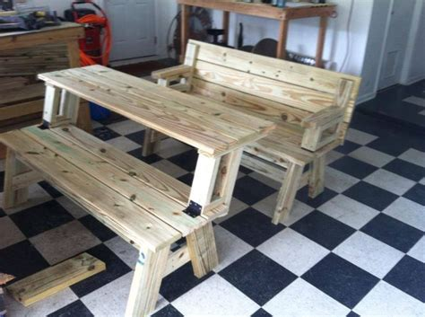 convertible bench picnic table plans  woodworking