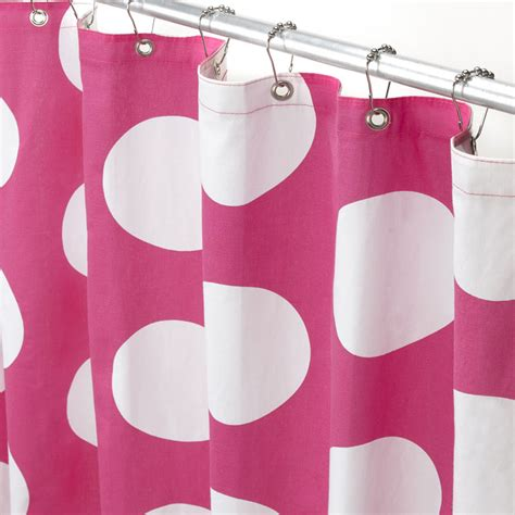 pink and white polka dot shower curtain monogrammed shower curtains manual woodworkers u0026
