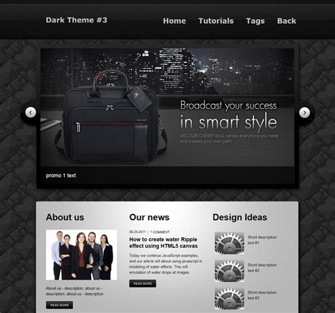 website layout design in html and css creating a dark and clean html css website layout