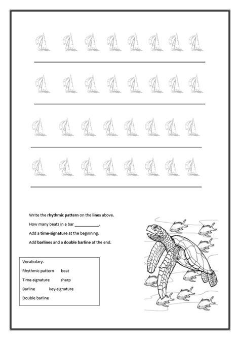 rhythmic pattern activities writing the rhythmic pattern taba naba pinterest