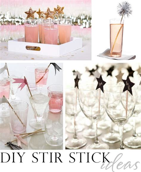 diy decorations for new year diy new years stir stick ideas the celebration shoppe