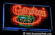 Grannys Closet Flagstaff by Roadside Peek Neon Eateries Arizona 2