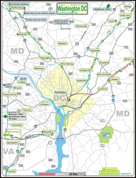washington dc railroad map railfan guide to washington dc overall dc railroad map