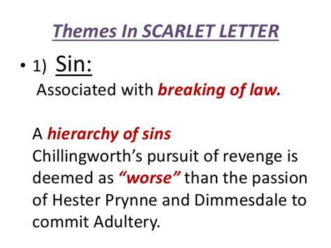 important themes of the scarlet letter the scarlet letter themes the best letter