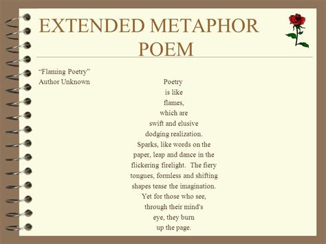 exle of extended metaphor poetry ppt