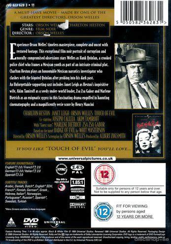 se filmer touch of evil gratis touch of evil import sv text dvd discshop se