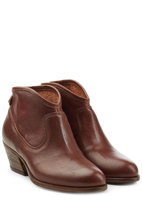 Fiore Skull Boots by Fiorentini Baker Leather Ankle Boots In Brown Lyst