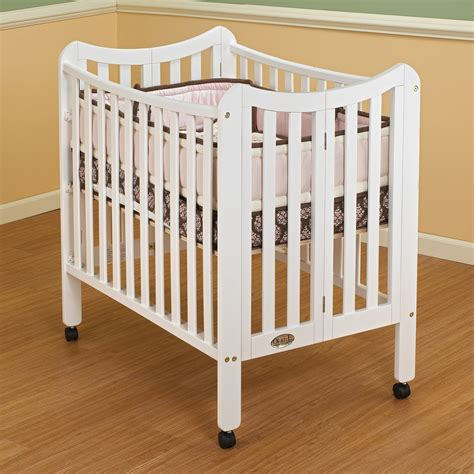 Baby Small Cribs On Me 2 In 1 Folding Size Crib White Walmart