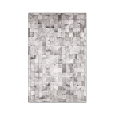 small cowhide rug barcelona cowhide small patch rug 5 x 8 brown white rugs touch of modern
