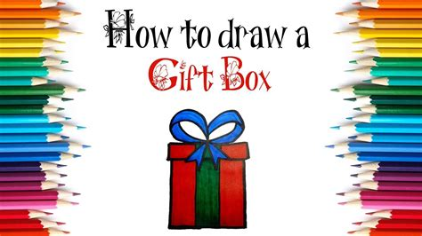 christmas drawing step by step and gift to gift cartoon how to draw a gift box step by step draw a gift box for
