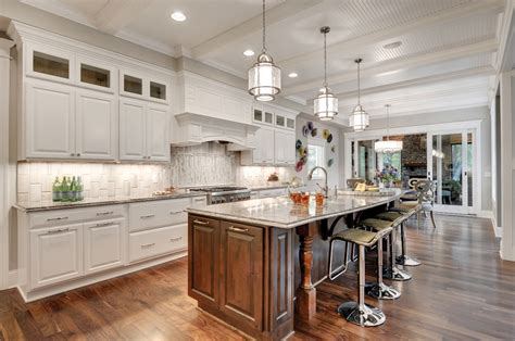 Open Cabinet Kitchen Ideas by Expansive Edina Craftsman By Donnay Homes