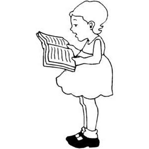 coloring page girl reading girl reading book coloring sheet