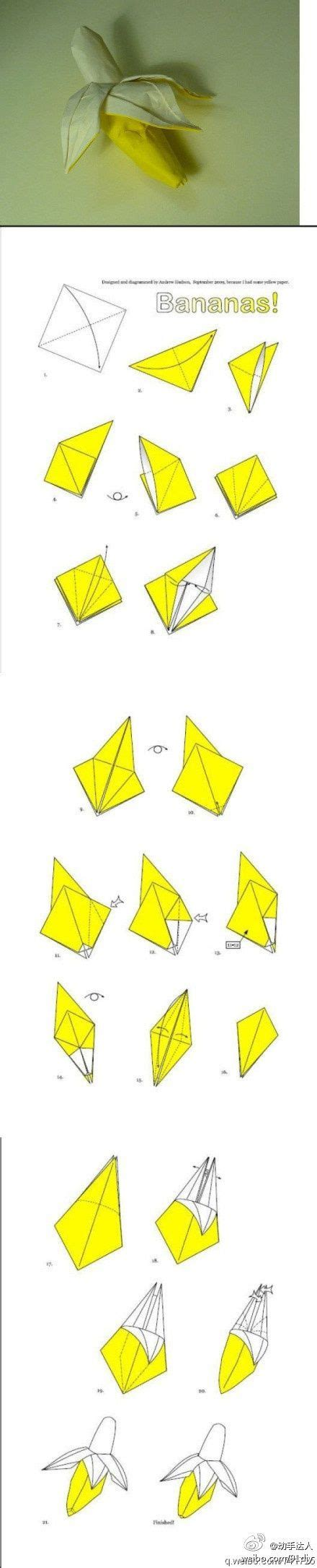 origami banana origami 3d banana and other fruits to be thrown with