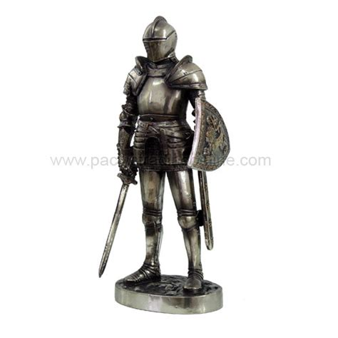 Egyptian Home Decor by Medieval Knight In Suit Of Armor With Sword And Shield