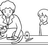 coloring pages veterinarian veterinary coloring pages veterinary to color