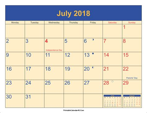 printable july 2018 calendar july 2018 calendar printable with holidays pdf and jpg