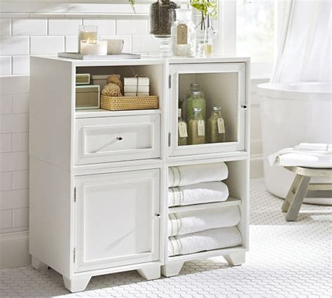 pottery barn bathroom storage modular floor storage pottery barn for the home
