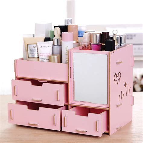 Cosmetic Organizers For Countertop by Wooden Makeup Organizer For Countertop Style Guru