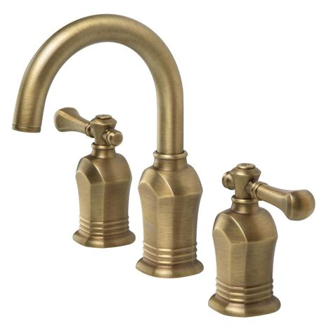 Brass Fixtures Bathroom Pegasus Verdanza Series 8 In Widespread 2 Handle High Arc Bathroom Faucet In Antique Brass
