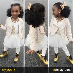 French braids and twist out natural hairstyle for little girls