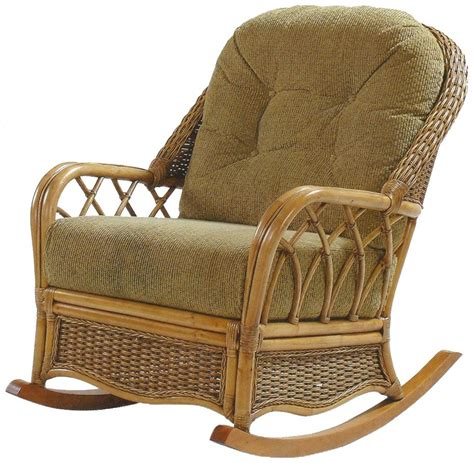 braxton culler everglade wicker rattan rocker with tufted seat back jacksonville furniture