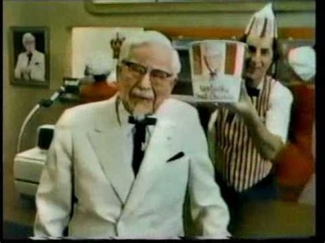 actors in kentucky fried chicken commercials 1980 kentucky fried chicken colonel sanders commercial