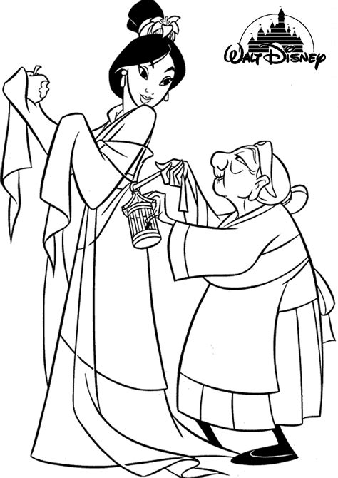 princess mulan coloring page 14 wall disney princess coloring pages printable