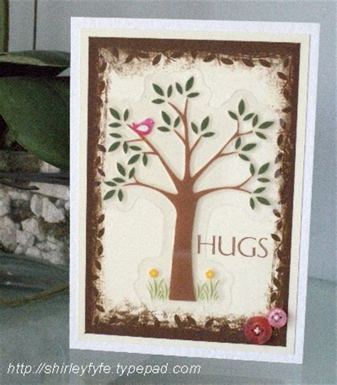 creative cards hug tree card