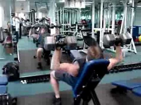 bench press 80 lbs 80 lb dumbbell incline bench press youtube