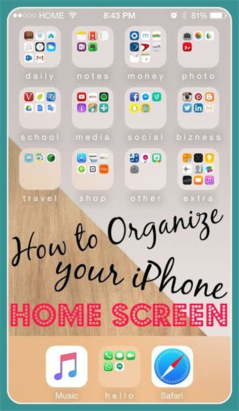 best free organization apps how to organize iphone and apps on pinterest
