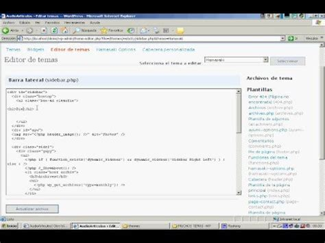 Tutorial Wordpress Modificar Plantilla | wordpress tutorial espa 241 ol 1 modificando plantilla youtube