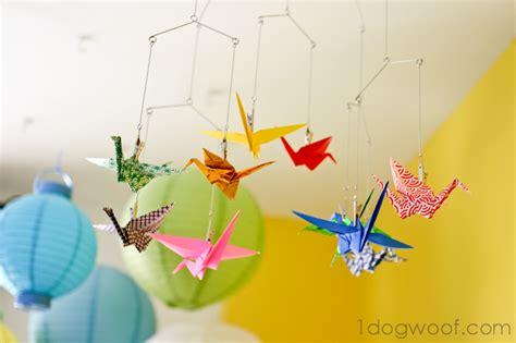 Origami Crane Mobile - origami crane mobile one woof