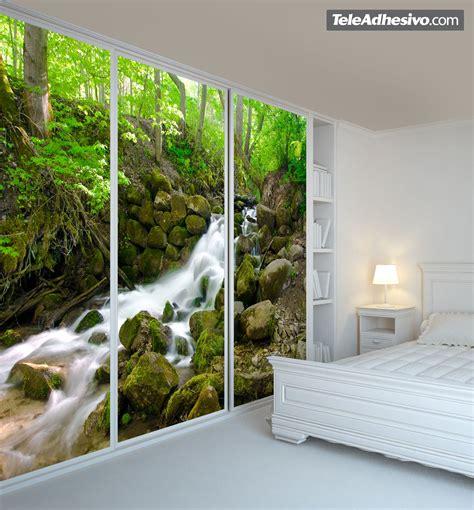 Tapete Wohnzimmer Ideen 983 by Fotomurales La Cascada Bosque Paredes