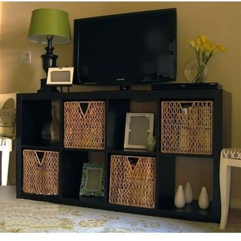 new ikea expedit tv stand entertainment center multi use