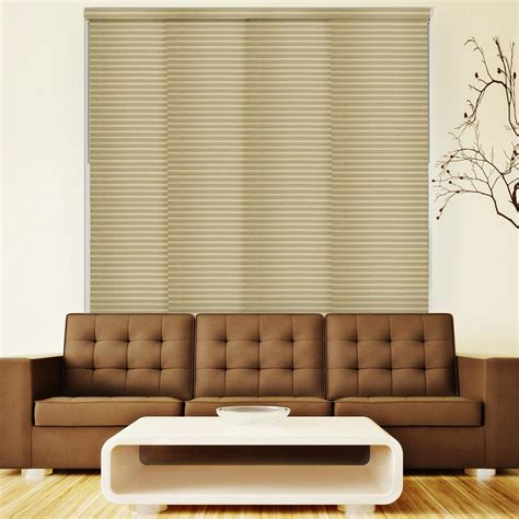 chicology deluxe adjustable sliding panel cut to length curtain drape vertical blind light