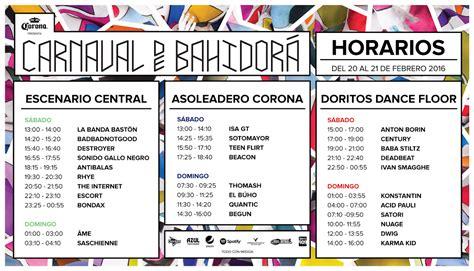 verificentros df horarios 2016 show df carnaval de bahidor 225 2016 cartel fechas