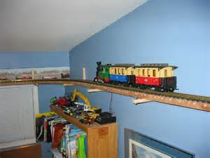 Train Bedroom north west corner layout is powered by an arito craft train engineer