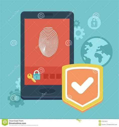 Alarm Mobil Vector vector mobile phone security royalty free stock image image 37351816