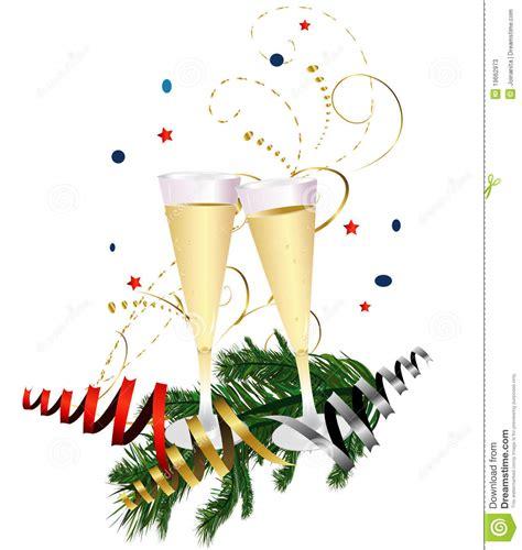 clipart brindisi de toost chagne het nieuwjaar vector