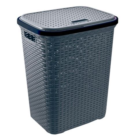Plastic Laundry Basket With Lid Modern Heavy Duty 55 Plastic Laundry With Lid