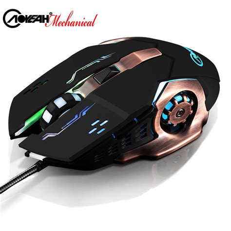 Mouse Macro Usb aoyeah mute cable usb macros wired dpi gaming mouse computer souris gamer ergonomic optical pc
