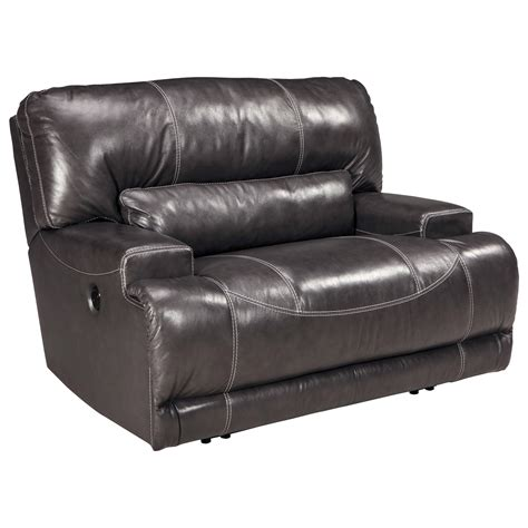 wide power recliner signature design by mccaskill u6090082 contemporary