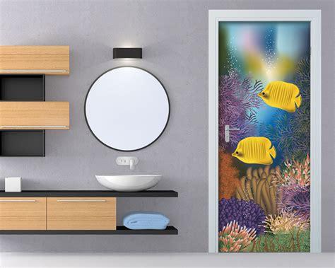 adesivi murali per porte come in un acquario animali adesivo per porte