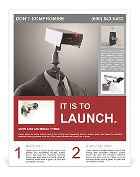 a robotic security camera flyer template amp design id