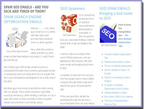 Search Engine Email Seo E Mail Spam Seo Email Spam Alert How To Spot Seo