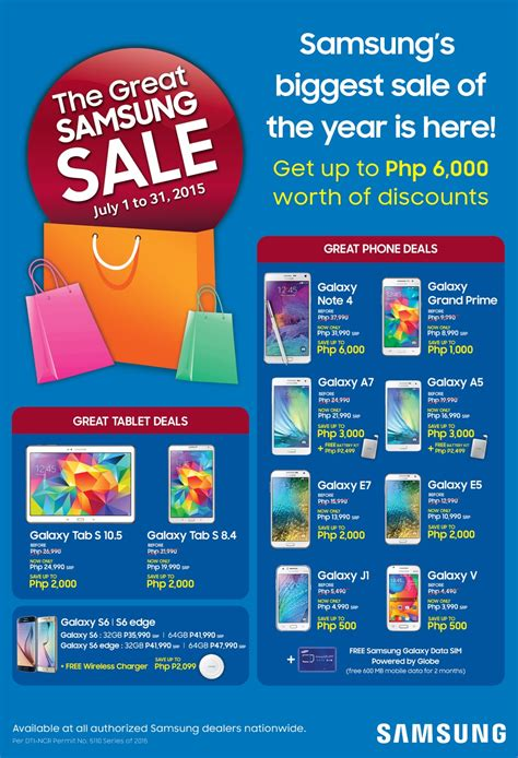 the great samsung sale up to php php6 000 worth of discounts on samsung smartphones and tablets