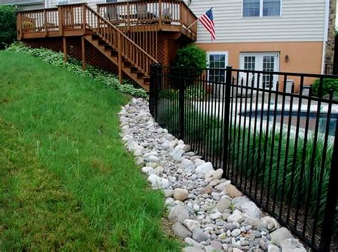 water drainage problems in backyard 97 best images about dry creek bed french drain on